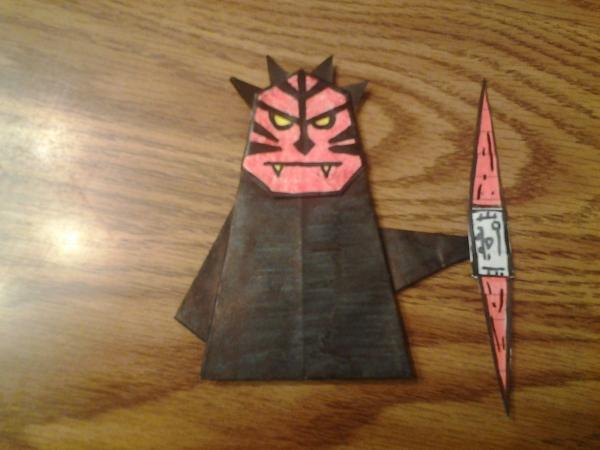 Welcome to my new site with Origami Darth Maul!